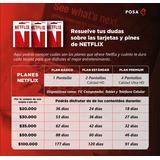Pin De Recarga Netflix Pin 30mil (garantizado)