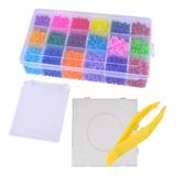 Estuche Hama Beads 18 Colores +tabla Pinza Papel Perler Midi