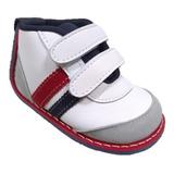Zapatos No Tuerce Para Bebe Niño Con Velcro