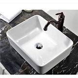 Lavamanos De Sobreponer En Ceramica Blanco 14cm*49cm*37.5cm