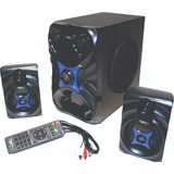 Teatro En Casa Bluetooth Con Woofer 26w Radio Fm Usb Sd + Ob