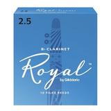 Caña Clarinete Rico Royal 2; 2.5; 3; 3.5 Caja 10 Unidades