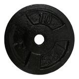 Disco De 10lb Hierro Para Mancuerna-barra- Pesa Gym 2.5cm Di