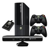 Xbox 360 Ultra Slim + 2 Controles + Kinect + 120gb 17 Juegos