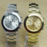 Reloj Geneva Dorado Metalico Mujer Bonito Diseño