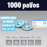 Fornite 1.000 Pavos Para Pc Ps4 Xbox, Switch, iPhone Android