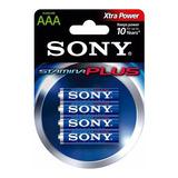 Pila Sony Tipo Aaa X 4 Alcalina Nueva Sellada Orig (am4-b4d)