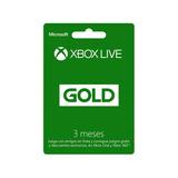 Xbox Live Gold 3 Meses Región Libre Código