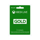 Xbox Live Gold 3 Meses Código Global