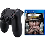 Control Ps4 Con Juego Call Of Duty Ww2 Ps4 Playstation 4