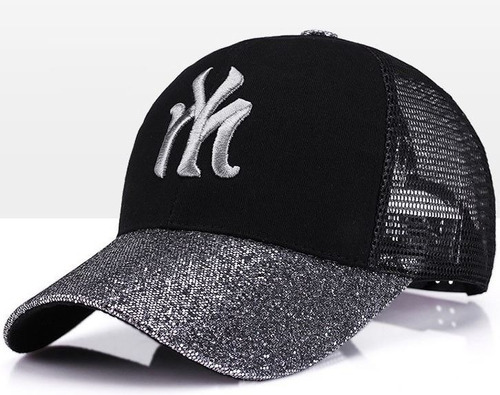699bb59bb38b9 Gorra Mujer Fashion Hip Hop Bordada Y Lentejuelas Ajustable