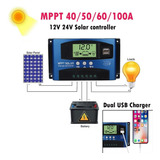 40a/ Mppt Solar Panel Regulator Charge Controller 12v/24v