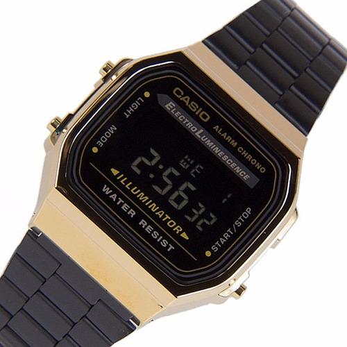 350e84f71b57 Casio Retro A-168wegb Negro Unisex Acero 100% Original