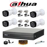 Camaras Seguridad Kit Dahua Dvr 1080 4 Ch + 4 Camaras 720 Hd