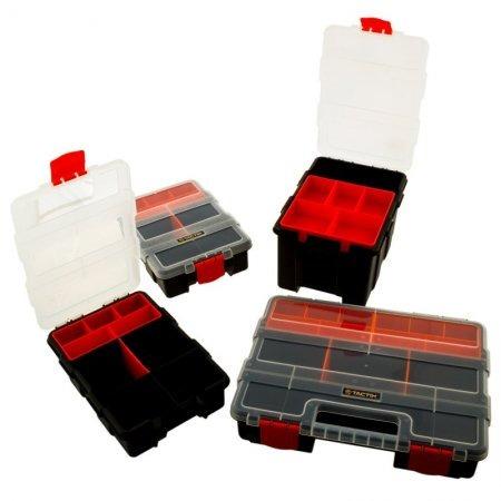 Set 4 en 1 cajas organizadoras tactix de pl stico negro for Cajas de plastico precio
