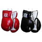 2 Pares Rojo Y Negro 10oz Youth Guantes Boxeo Punching