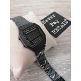Reloj Retro A168w Dama New All Black Clasico Negro Envio