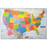 Mapa De Estados Unidos Tamaño Póster De Pared 40 X 28