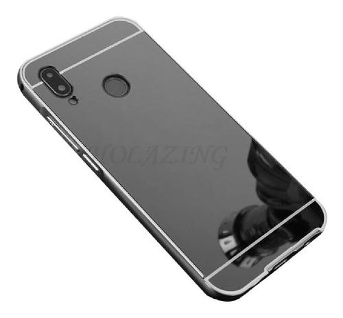 Protector Bumper Aluminio Espejo Huawei P20 Lite Negro