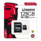 Memoria Micro Sd Kingston 128gb C10 Canvas 80mbs Sdxc Promo