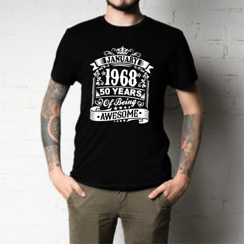 55aa5489f1 Camisetas Algodon Personalizadas Con Tu Fecha De Cumpleaños