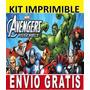 Kit Imprimible Los Vengadores Avengers Diseña Invitaciones A