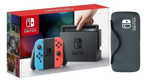 Nintendo Switch Neón Blue And Red + Estuche. Nueva Y Sellada