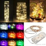 Luces Micro Led Decoración Luz Alambre Led Pilas Incluidas