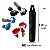 Saco De Boxeo 1.10metros Y 2 Pares De Guantes De Boxeo