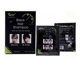 Shampoo Tinte  Pinta Canas En 5 Min - Black Hair  X Unidad