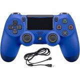 Control Ps4 Dualshock 4 Azul Segunda Generación + Cable Usb