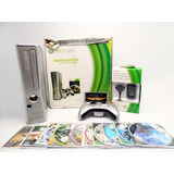 Xbox 360 Slim Edicion Halo ,1 Control,10 Juegos 5.0 Caja