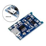 Módulo Cargador Batería De Litio Lipo 1a Micro Usb 5v Tp4056