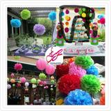 Pompones Fiestas Eventos Decoración Bolas Chinas Globos Piña