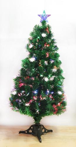 6e9ae54adc2 Arbol De Navidad En Fibra Optica Con Estrellas De 120cm