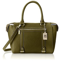 Bolso Anne Klein Militar Luxe Top Handle Satchel Negro