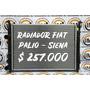 Radiador Fiat Palio/siena 00/09 Mecánico Laminillas