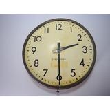 Reloj Grande De Fabrica A 110v Antiguo Colgar O Adaptar Base