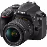 Nueva Camara Nikon D3400 +18-55mm 24,2 Mp +bolso + 32gb