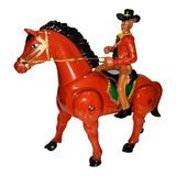 Vaquero Caballo Trotador Con Jinete Juguete Sonidos Y Galope