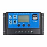 Regulador Controlador Solar Pwm 10 A Digital Usb 12-24vdc 2