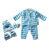 Pijama Animalito Para Bebes Recien Nacido 4 Piezas 0-3m