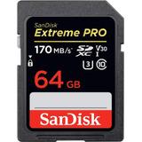 Sandisk Extreme Pro 64gb Sdxc U3, V30 4k 170mbs Envio Ya