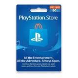 Psn 60 - Playstation Network 60 Usd - ¡entrega En Minutos!