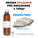 Resina Poliester Acelerada X500gr + Fibra + Cataliz Oferta!