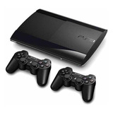 Ps3 Play Station 3  Súperslim 500gb + Juegos +dos Controles