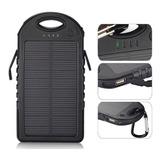Cargador Solar 5000mah Power Bank Linterna+dos Puertos