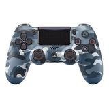 Control Ps4 Dualshock 4 Camuflado Azul +grips. 2a Generación
