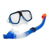 Set Buceo Careta Y Snorkel Intex 55948 Silicona Resistente