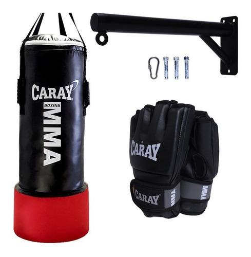 Saco De Boxeo Caray +base Metálica+guantes Mma+relleno+envió